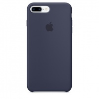 Чехол Apple для iPhone 7/8 Plus Silicone Midnight Blue