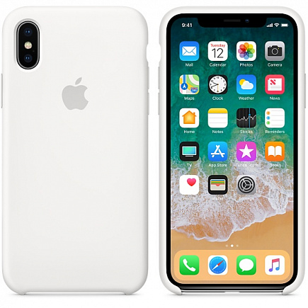 Чехол Apple для iPhone X Silicone White