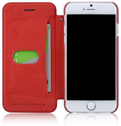 Чехол для iPhone 6 G-Case Folio leather Business Series Red
