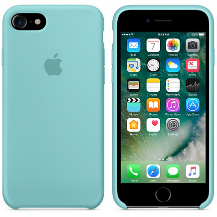 Чехол Apple для iPhone 7/8 Silicone Sea Blue