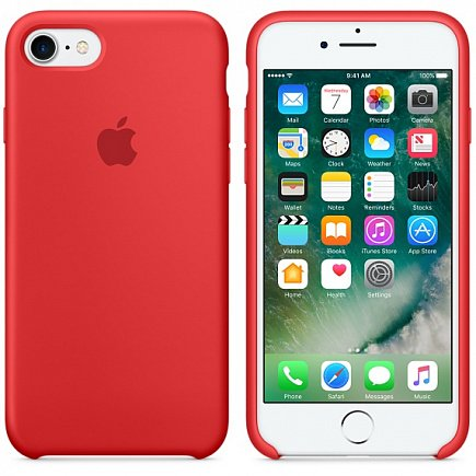 Чехол Apple для iPhone 7/8 Silicone Case Red