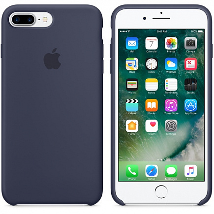 Чехол Apple для iPhone 7 Plus Silicone Midnight Blue