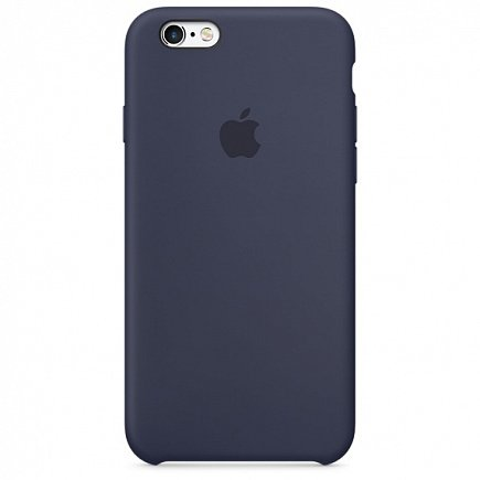 Чехол Apple для iPhone 6/6s Silicone Midnight Blue
