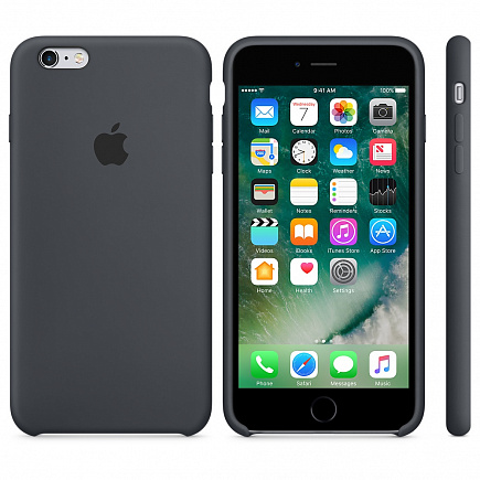 Чехол Apple для iPhone 6/6s Silicone Charcoal Grey