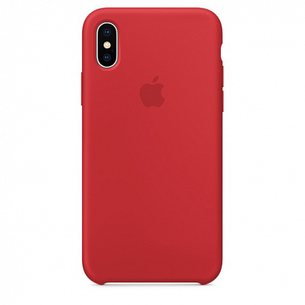 Чехол Apple для iPhone X Silicone Red