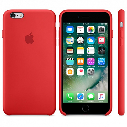 Чехол Apple для iPhone 6/6s Silicone Red